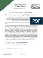 Over ground running speed for inertial sensors
