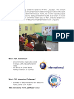 TEFL International TESOL Presentation