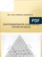 Evapotranspiración, Clasificación Textura de Suelos