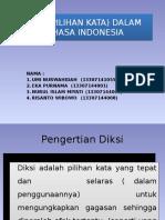 Diksi (Pilihan Kata) Dalam Bahasa Indonesia 5