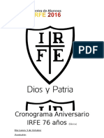 Cronograma Aniversario IRFE 2016 Básica Terminado (1)