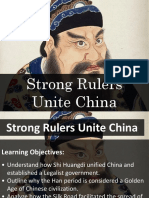 lesson 5 - strong rulers unite china