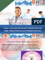 HospitalSoftwareShop - Laboratory Information System LIS