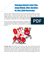 E-Book 100 Fakta Golongan Darah O