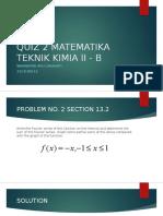 Quiz Matematika Teknik Kimia II - b