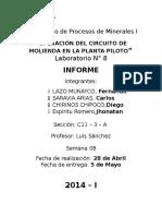 Laboratorio de Procesos de Minerales I