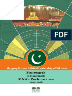 MappingFuturePoliticalLeadershipofPakistan ScorecardsonHonourableMNAsPerformance 2015-2016