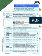Installation Check List FP PSS