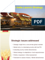 McDonalds India Launch Strategy 2.0