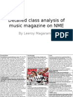 Detailed class analysis of music magazine on NME- Leeroy