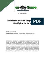 Gramsci, Antonio - Necesidad de Una Preparacion Ideologica de La Masa