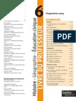 Livre Du Professeur 2013 Histoire Geograhie 6e