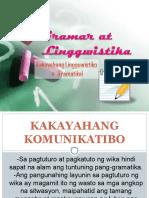 Kakayahang Lingguwistiko o Gramatikal 160923013112