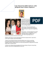 Para Pagtakpan Ang Relasyon Kay Ruffa Gutierrez