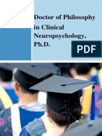Doctor of Philosophy in Clinical Neuropsychology
