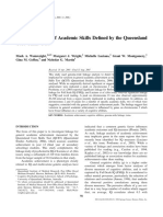 A Linkage Study of Academic Skills Defined by the Queensland