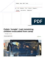 Calais 'Jungle'_ Last Remaining Children Evacuated From Camp - BBC News