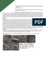 Properties of Peptide Microspheres