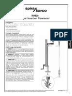 RIM20 Rotor Insertion Flowmeter-Technical Information