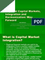 Regional Capital Markets, Intergration and Harmonization