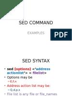 Sed Command