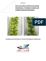 Preliminary results on the effect of ACR on the storage quality of 'Golden Delicious', 'Packhams Triumph', and 'Granny Smith' during the 2016 season