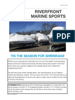 Riverfront Marine Sports November 2016 Newsletter