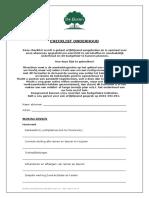 Checklist Onderhoud - De Buren - 2016