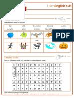 Worksheets Halloween