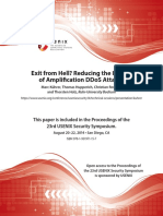 Reducing the Impact of Amplification DDoS Attacks