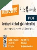 Apotheker/-in in Vollzeitstellung (Teilzeitarbeit möglich)