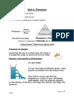 Unit 4 Pressure