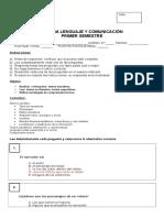 8º Prueba Lenguaje Sintesis Primer Semestre 2015%2c