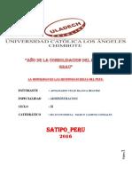Morocidad en Las Financieras Del Peru
