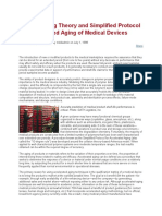 General Aging Theory and Simplified Protocol for Accelerated Aging of Medical Devices
