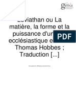 Leviathan Tome i Hobbes Trad Fr r Anthony