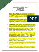 Declaracion de Foz Iguazu