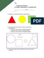 Evaluación Informal Matematica Prebasica