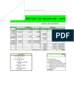 Planilla de Excel Para Valuacion de Stock Peps Fifo Ueps Lifo y Pp