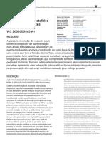 Patente WO2006000565A1 -  fotocatalítico