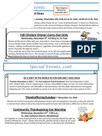 Special Events, November 2016