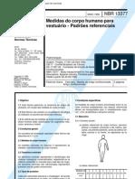 NBR 13377 - Medidas Do Corpo Humano Para Vestuario - Padroes is