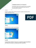 Como Comprimir Archivos Con Windows 7
