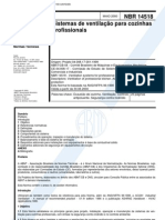 NBR 14518 - Sistema de Ventilação para Cozinhas Industriais