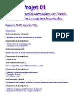 Fiches Modèles Du Nouveau Programme 3 Ème AP Projet 01 Séquence 01