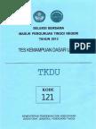 Naskah Soal SBMPTN 2013 Tes Kemampuan Dasar Umum (TKDU) Kode Soal 121 by [pak-anang.blogspot.com].pdf