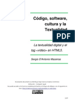 Código, software, cultura y la Textualidad digital.