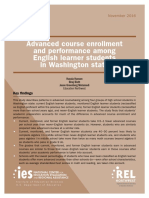 Advanced course enrollment, performance among ELLs in Washington state