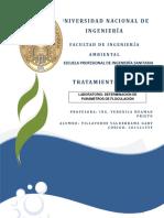 Determinación de Parámetros de Floculación