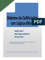 Sistema de Calificación Con Lógica Difusa